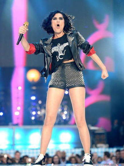 shorts jessie j studded shorts