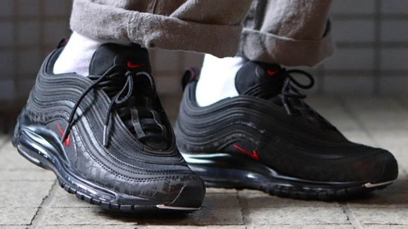best sneakers 126c3 740ee Nike Air Max 97 Reflective Logos Black   AR4259-001   The Sole Supplier