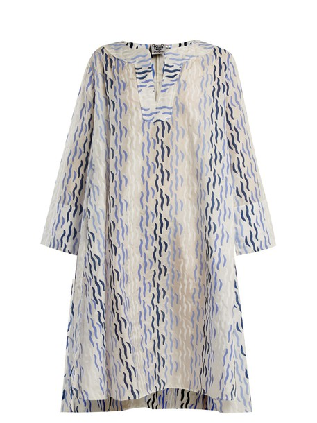 THIERRY COLSON dress printed dress rock blue