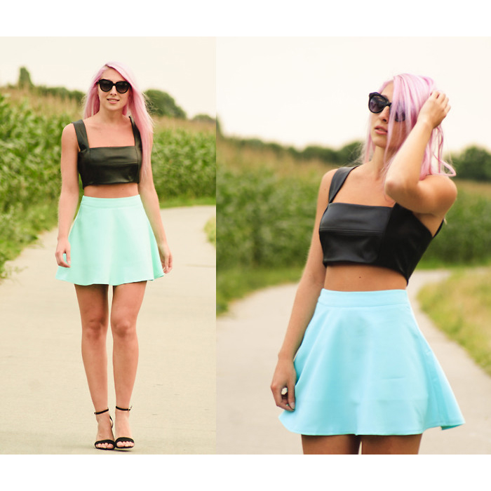 Mint Skater Skirt - Retro, Indie and Unique Fashion