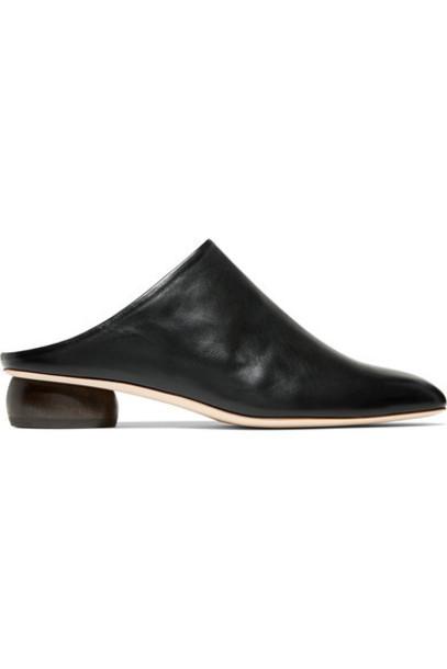 Rejina Pyo mules leather black shoes