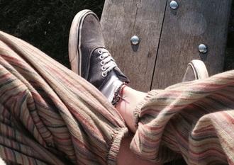 pants striped pants hippie boho bohemian cut up genie pants