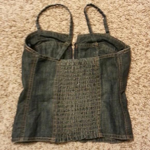 Denim corset from sara's closet on poshmark