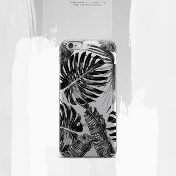 Milkyway Cases CLEAR TPU CASE COVER - MONOCHROME PALM LEAVES
