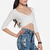 DailyLook: Open Back Crisscross Crop Top in White XS - L