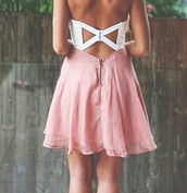 dress,sweet,neon,girly,beautiful,girl,sparkle,pink,white,cute dress,cross,open back,blue,open backed dress,white dress,pink dress,zip,backless,cute,vintage,blonde hair,summer dress,summer outfits,summer,spring outfits,spring,cute outfits,nice,nice outfit,girly outfits tumblr,clubwear,outfit,short,mini dress
