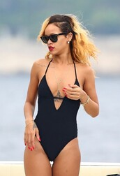 swimwear,one piece swimsuit,black,black swimwear,black swimear,one piece,dope swimwear
