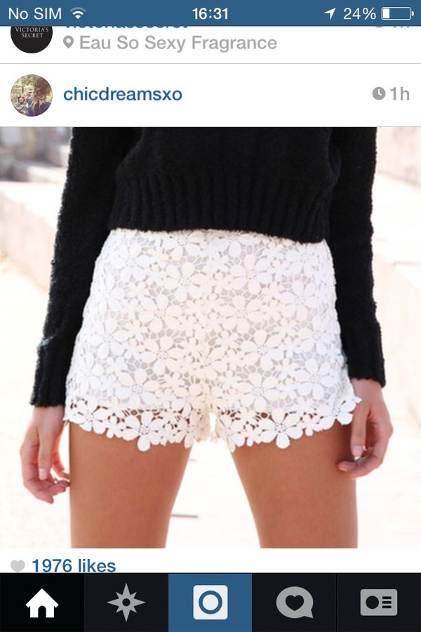 crochet shorts white festival summer shorts cute