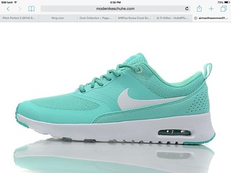 shoes nike air max thea mint blue nike