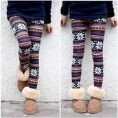 pants,snowflake,boots,tights,color/pattern,jeans,seasonal leggings,shoes,leggings,tribal pattern,flowers,ugg boots,winter outfits,it girl shop,pretty