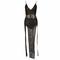 Glitter split leg maxi dress