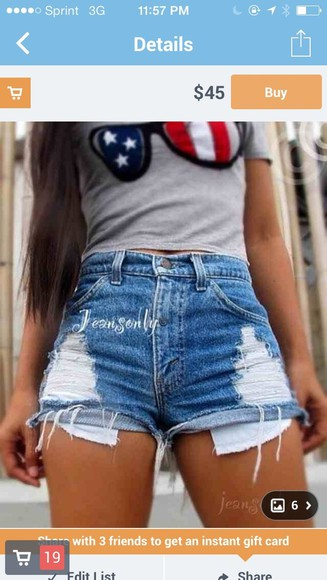 shorts high-wasted denim shorts