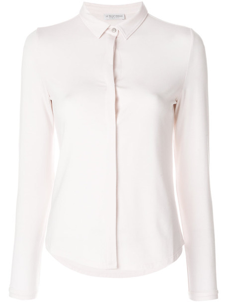 LE TRICOT PERUGIA shirt women spandex nude top