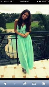 dress,mint dress
