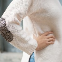 DIY SEQUIN ELBOW PATCH SWEATER «  a pair & a spare