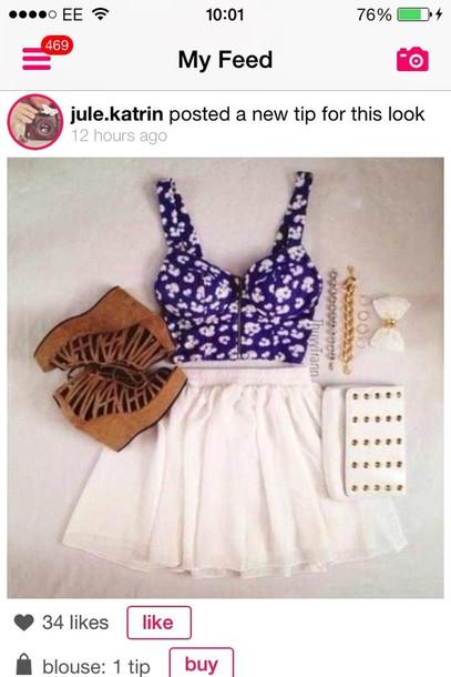 tank top skirt shirt