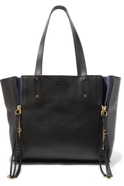 Chloe leather suede black bag