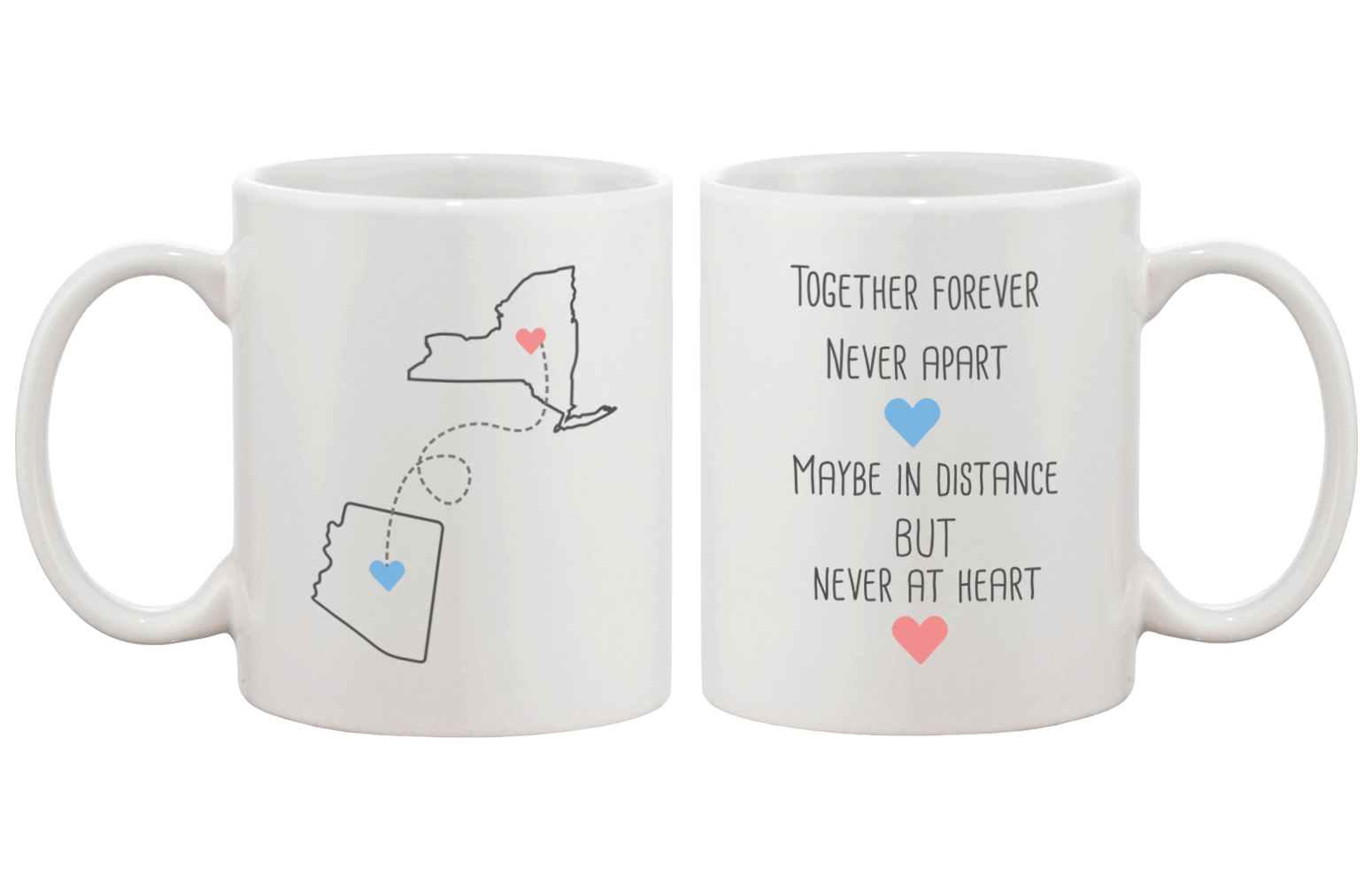 [Custom] Together Forever Never Apart Matching Couple Mugs (Set)