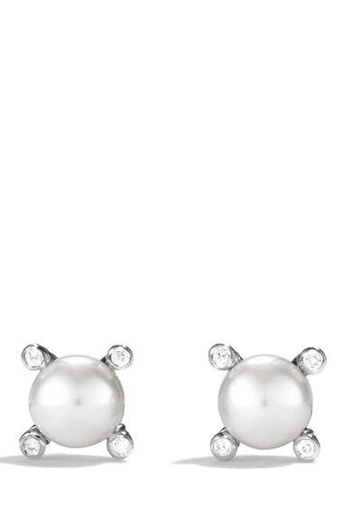 David Yurman Small Pearl Earrings with Diamonds | Nordstrom