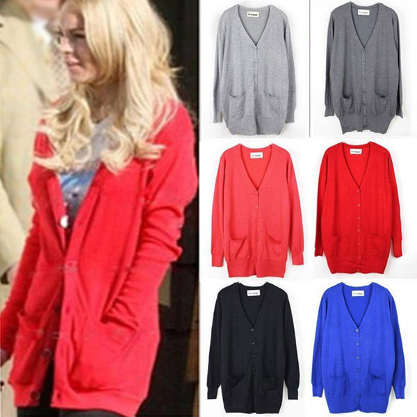 Aliexpress.com : Buy 2014 Hot 6 Colors Womens Button Cardigan V Neck Loose Knit Sweater Jumper Long Sleeve Outwear 1038 Free Shipping from Reliable cardigan sport suppliers on Shenzhen Gache Trading Limited