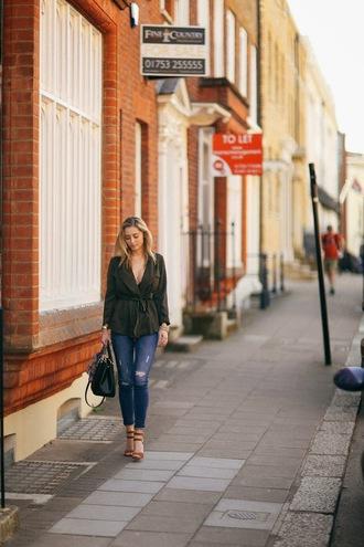 fashionism blogger skinny jeans zara parka army green jacket sandals