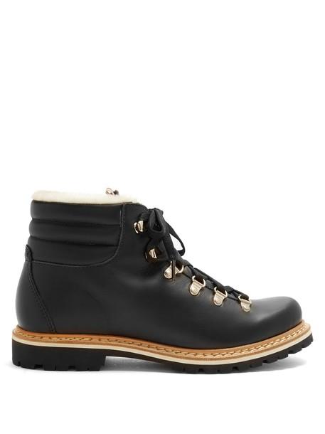 MONTELLIANA leather black shoes