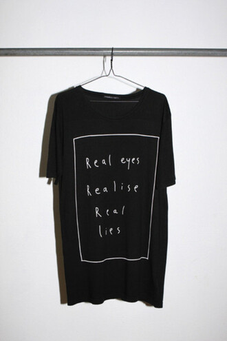 t-shirt shirt quote on it black style cool clothes tweet harry harry styles eyes mantra life guide