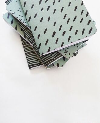 home accessory notebook pastel green stripes back to school stationary