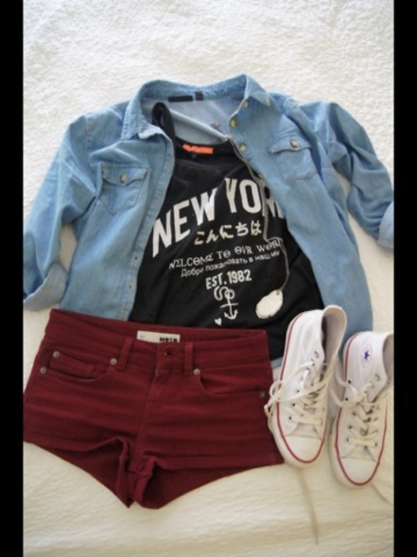 jacket bluejacket denim denim jacket shorts t-shirt tank top shirt