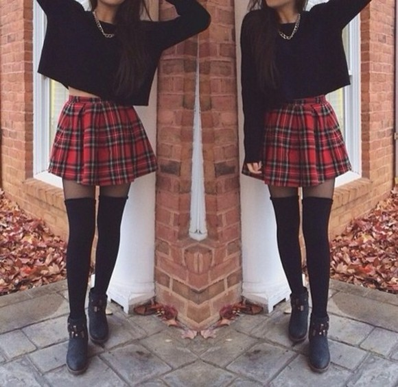 skirt plaid tartan