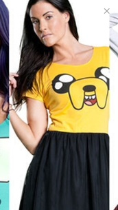 t-shirt,adventure time,jake the dog,yellow,cartoon