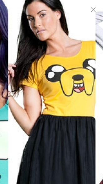 t-shirt adventure time jake the dog yellow cartoon