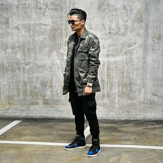 jacket maniere de voir camouflage shirt overcoat ripped blvck 36683