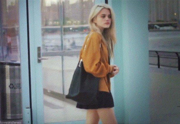 bag black bag skirt cardigan sky ferreira
