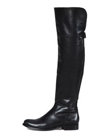 Knee boot, black