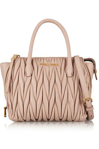 mini bag shoulder bag leather blush