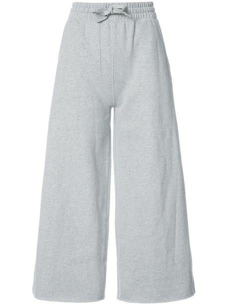 Champion pants track pants oversized women cotton grey