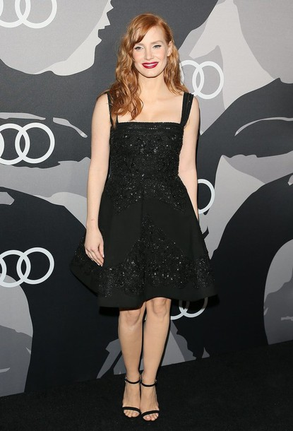 jessica chastain black dress