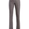 Mid-rise flared linen-blend jacquard trousers