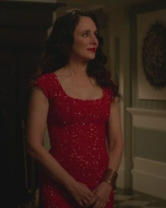 dress red sequin revenge victoria grayson madeleine stowe