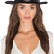 Brixton messer fedora in black & black from revolve.com