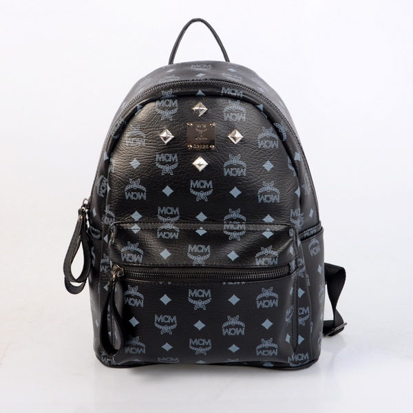 Cheap Large Black Mcm Stark Backpack Price Four Studs Sale
