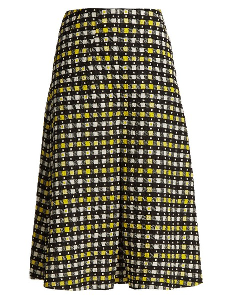 Duro Olowu skirt pleated print yellow