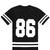Black Oversized 86 Graphic Varsity Tee