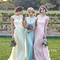 A-line cap sleeve lace long prom dresses, bridesmaid dress - 24prom