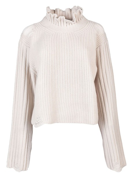 Golden goose sweater high high neck white
