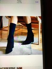 shoes,sudes midd boots,black
