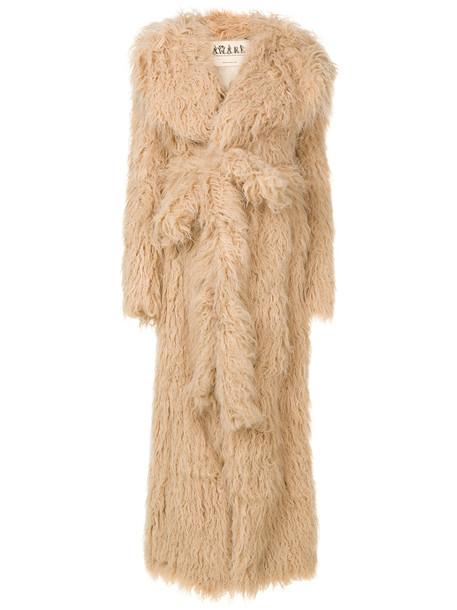 coat faux fur coat fur coat long fur faux fur women nude
