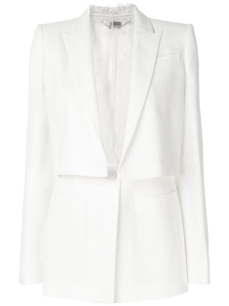 Alexander Mcqueen jacket women lace white cotton