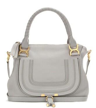leather grey bag